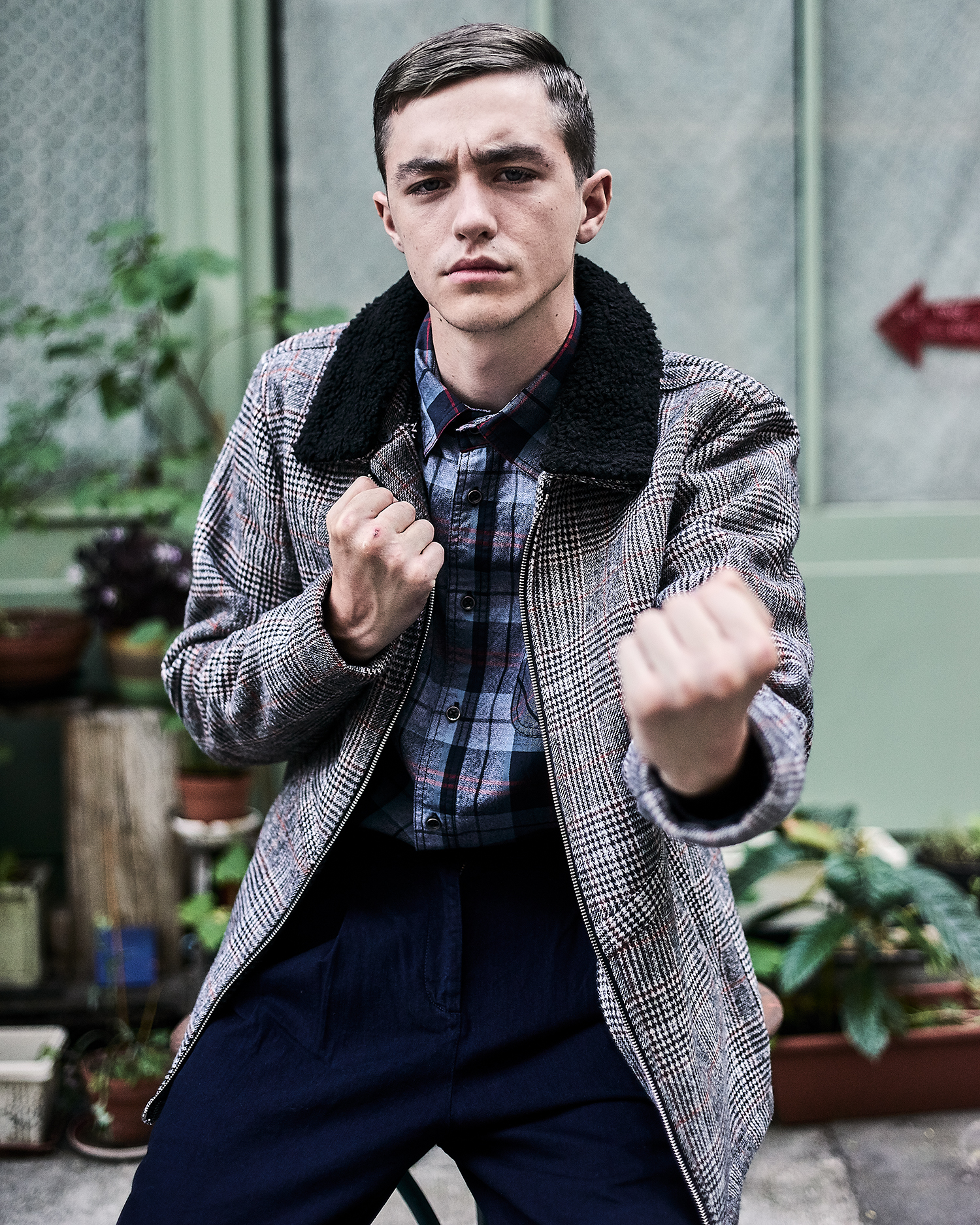 ... Jacob Wears A Coat By Anerk Jendt And A Shirt By MCS With Pants By  Scotch And Soda ...