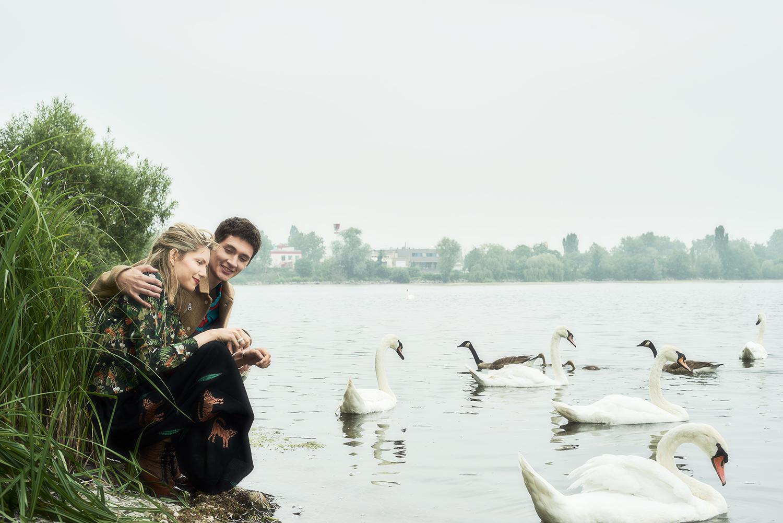 """""""couple at swan lake"""""""