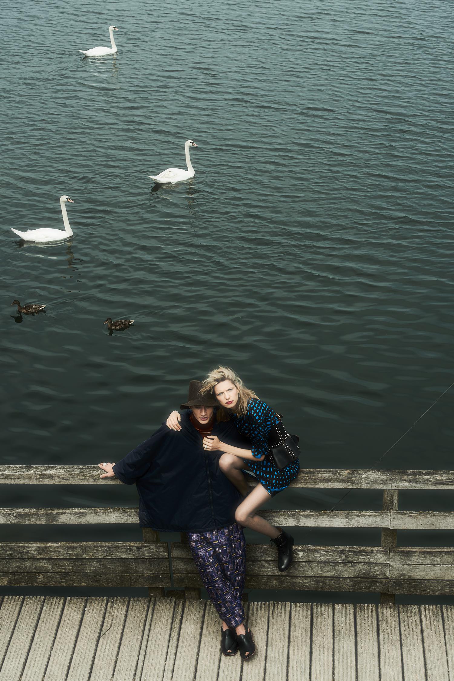 """""""couple at lake"""""""