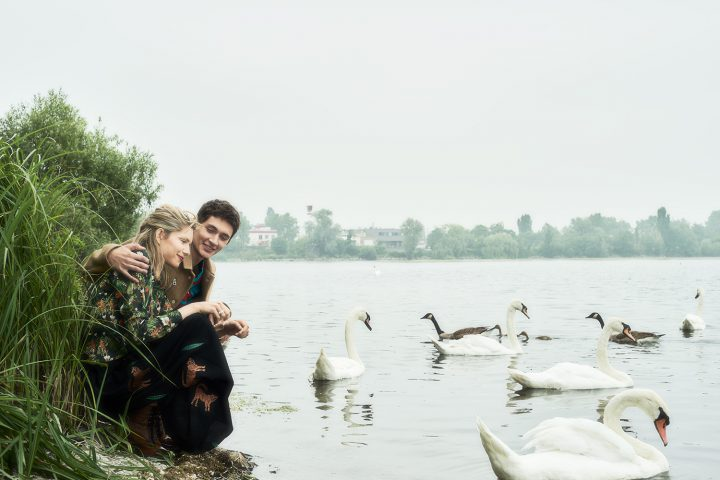 """couple at swan lake"""