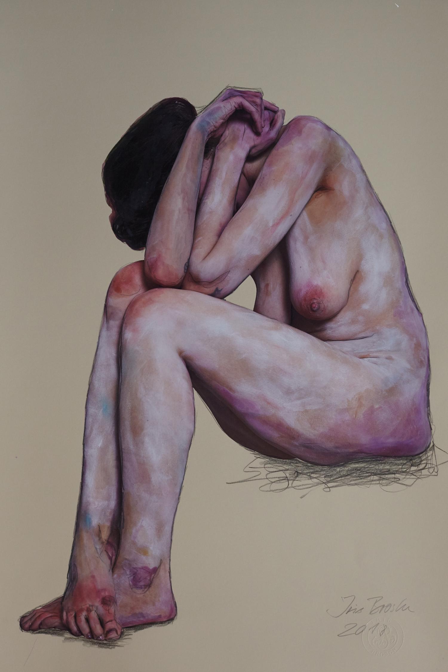 """""""woman nude - Homage Egon Schiele"""""""