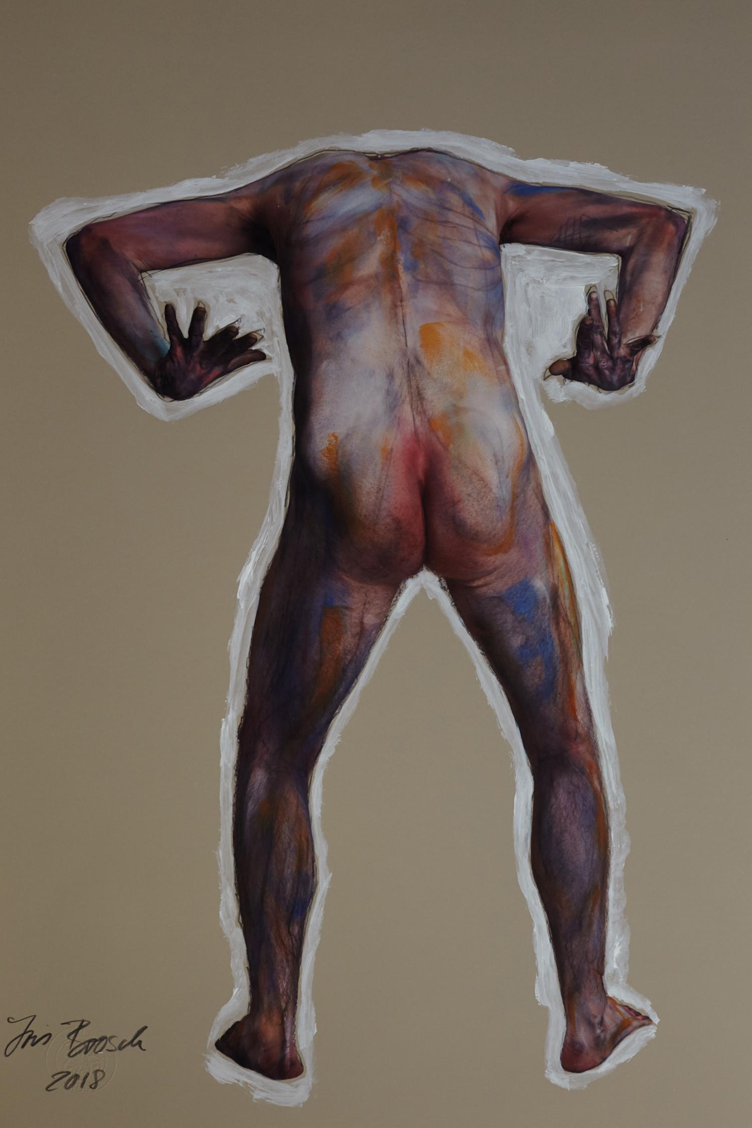 """""""man nude - Homage Egon Schiele"""""""