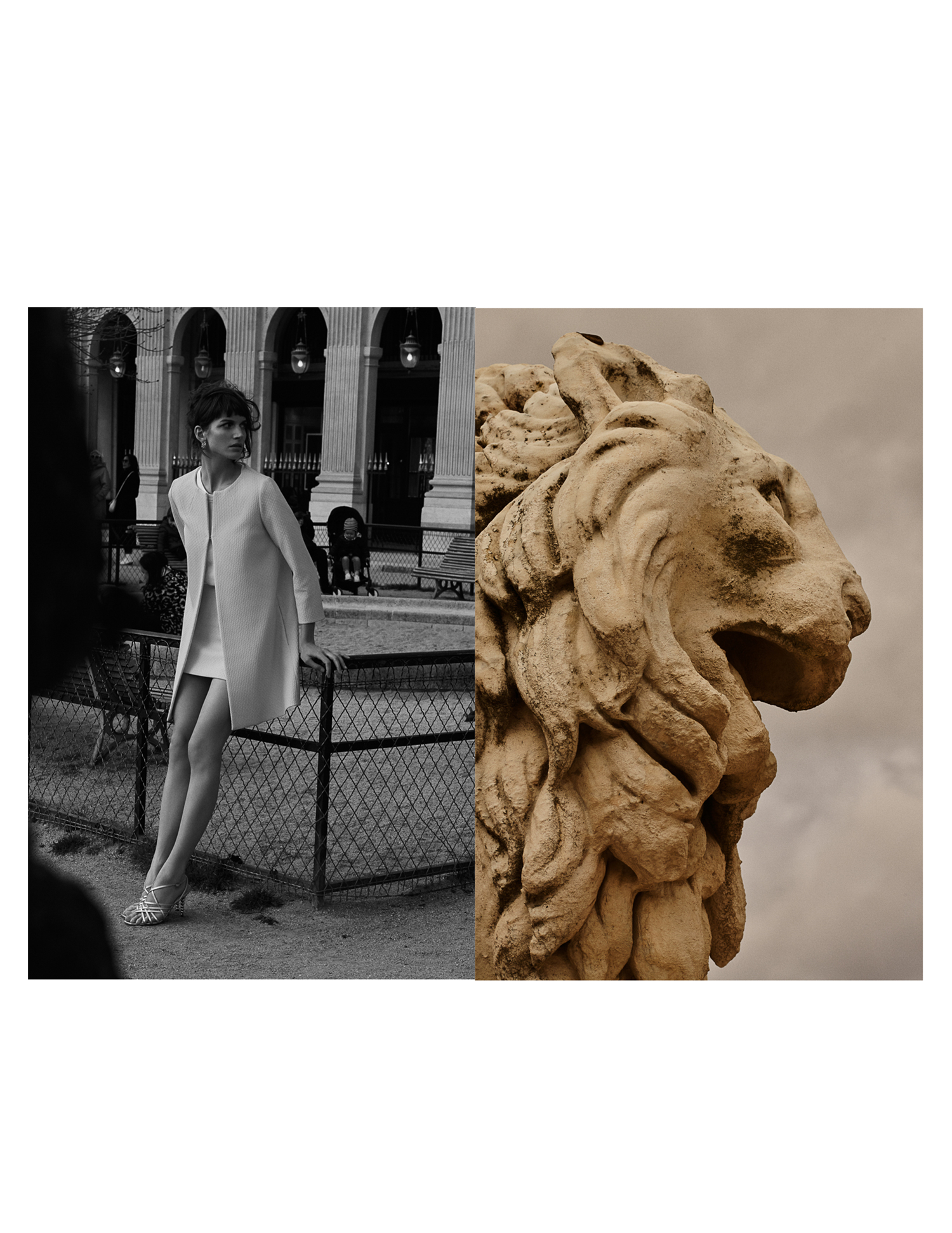 """Lioness woman fashion story"""