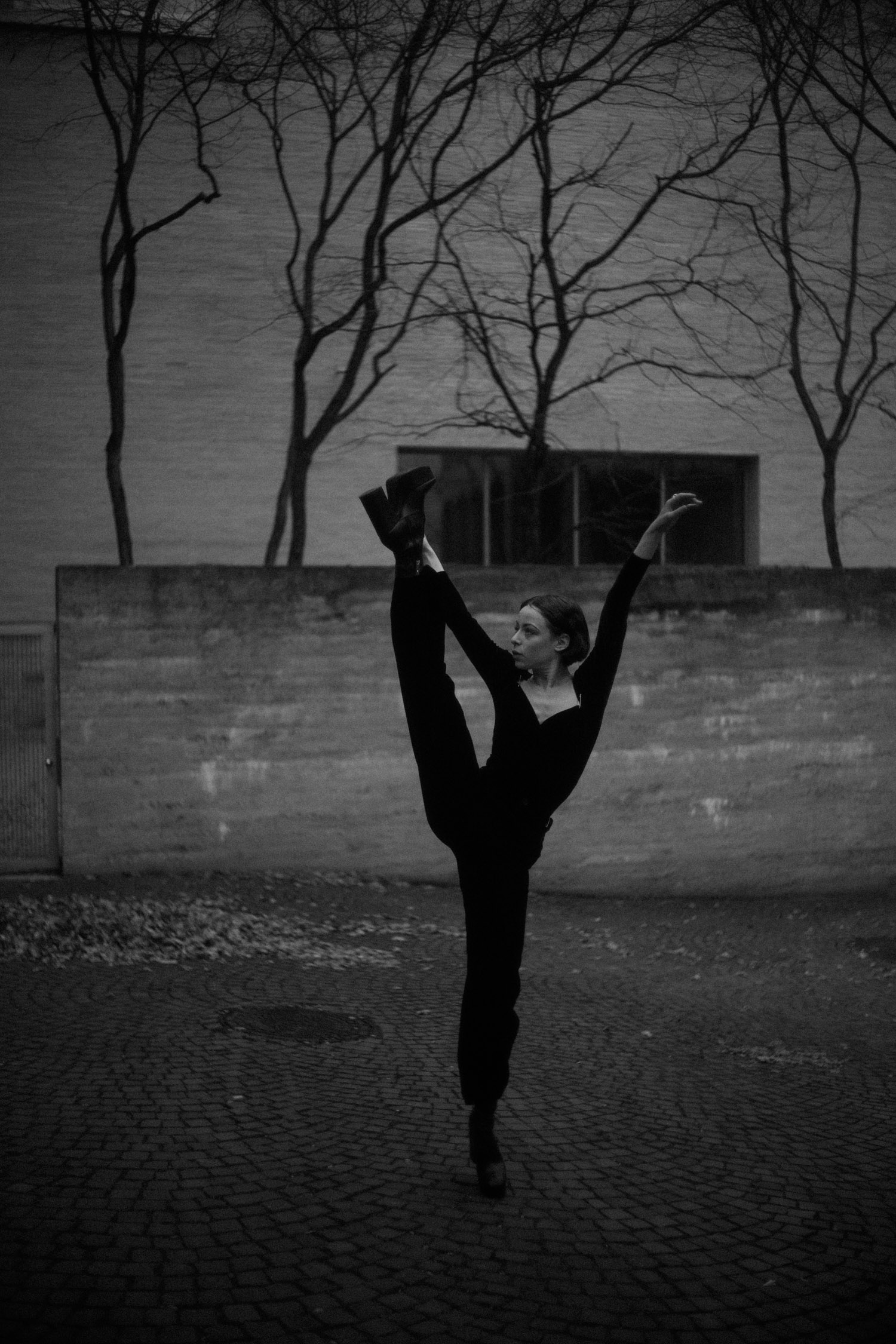 """Dancer in Black and white"""