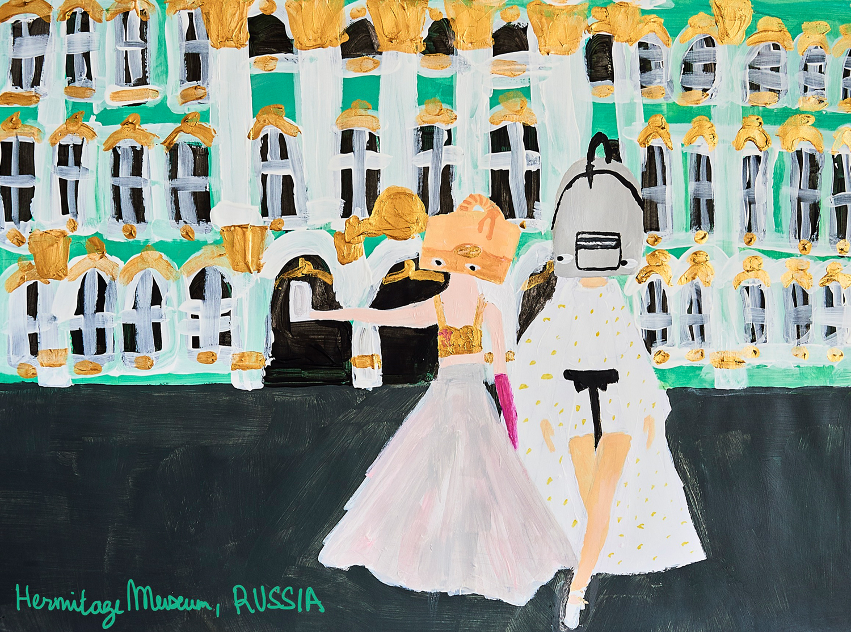 """Fashion Illustration highlights travel world high fashion"""